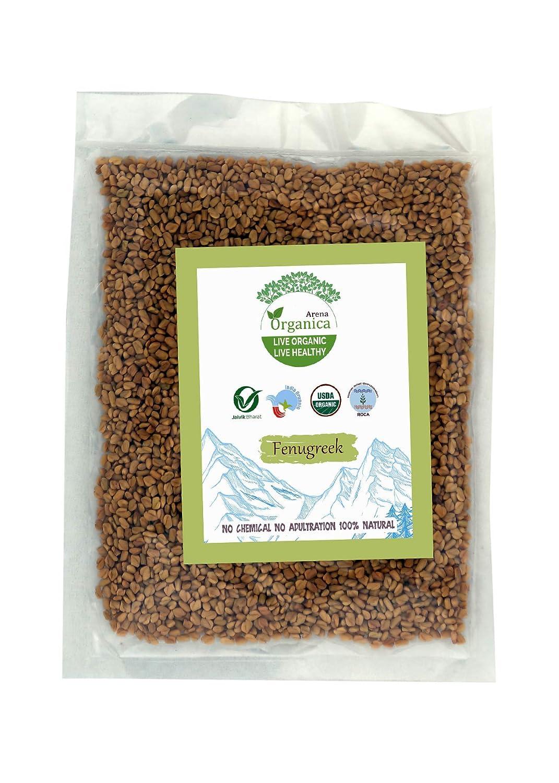 Amazon.com : Arena Organica Fenugreek Whole Methi Pack of 3 Each 100gm  (3.52 OZ) : Grocery & Gourmet Food
