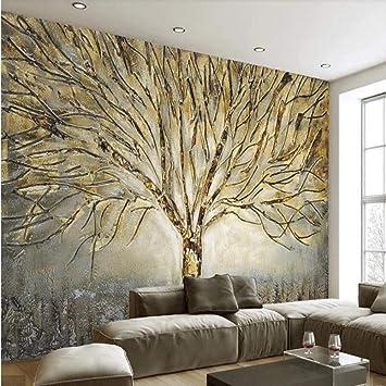 Nxmrn 3d Abstrait Arbre Papier Peint Peintures Murales Pour
