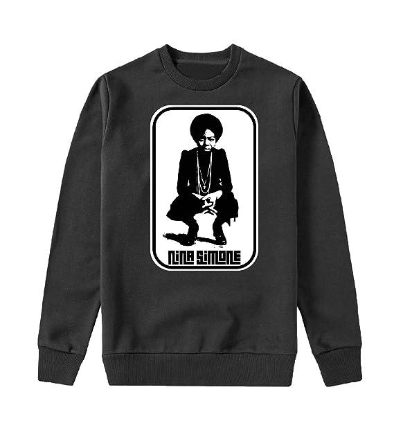 Nina Simone Feeling Good Rasta Capucha Crewneck Sudadera Sweater Sweatshirt Camisa De Entrenamiento Regalo De Navidad Cumpleaños Calidad Superior: ...