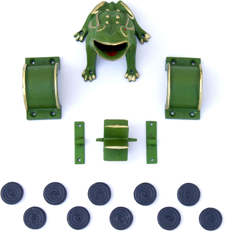 10 fichas, tejos, juego de la rana, hierro fundido: Amazon.es ...
