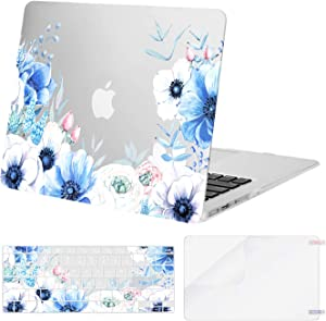 MOSISO Compatible with MacBook Air 13 inch Case (A1369 & A1466, Older Version 2010-2017 Release), Plastic Myosotis Hard Shell Case & Keyboard Cover & Screen Protector, Transparent
