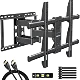 MOUNTUP Full Motion TV Wall Mount Bracket for 42-70 Inch Flat Screen/Curved TVs, Wall Mount TV Bracket - Articulating…