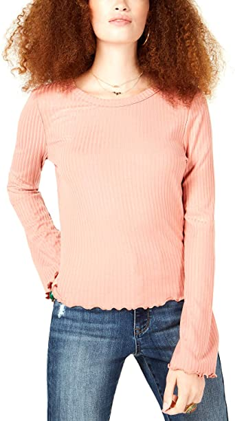 American Rag Juniors Lace-Up Ribbed Top