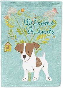 Caroline's Treasures BB7638GF Welcome Jack Russell Terrier Puppy Decorative Garden Flag, Size, Multicolor