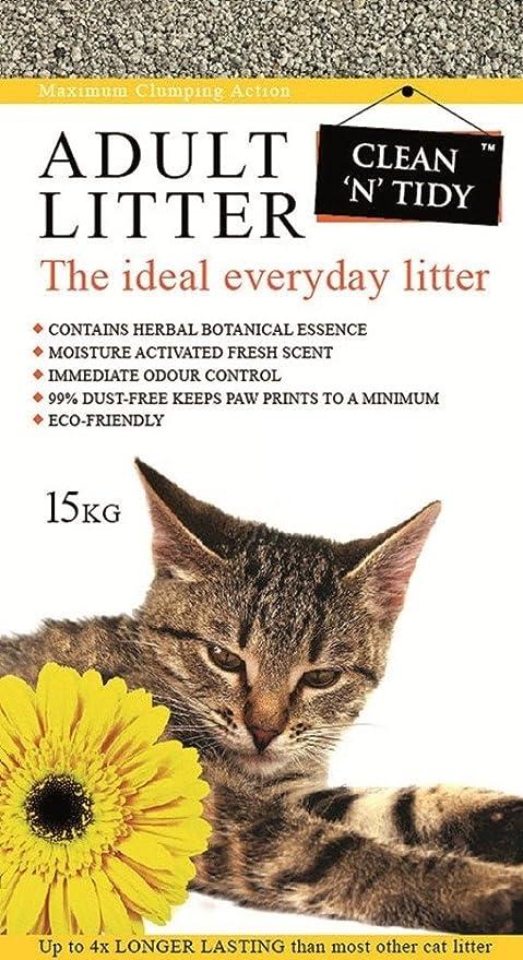 Clean N Tidy Arena para arenero de gato adulto, uso diario, 15 kg