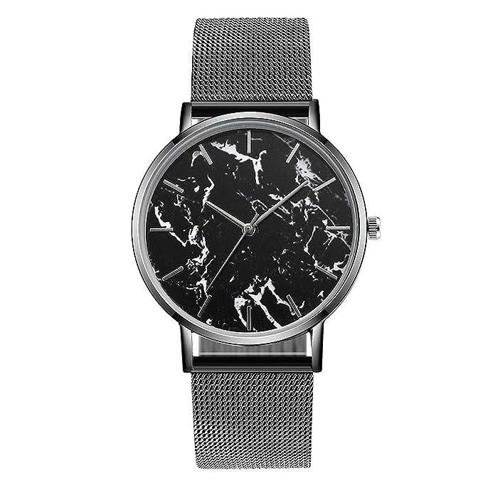 Mymyguoe Reloj de dial Redondo Reloj de Pulsera Hombre Reloj de Cuarzo Reloj Mujer Unisex Reloj de Pulsera Reloj Mujer Moda Reloj analogico Reloj de Dama: ...