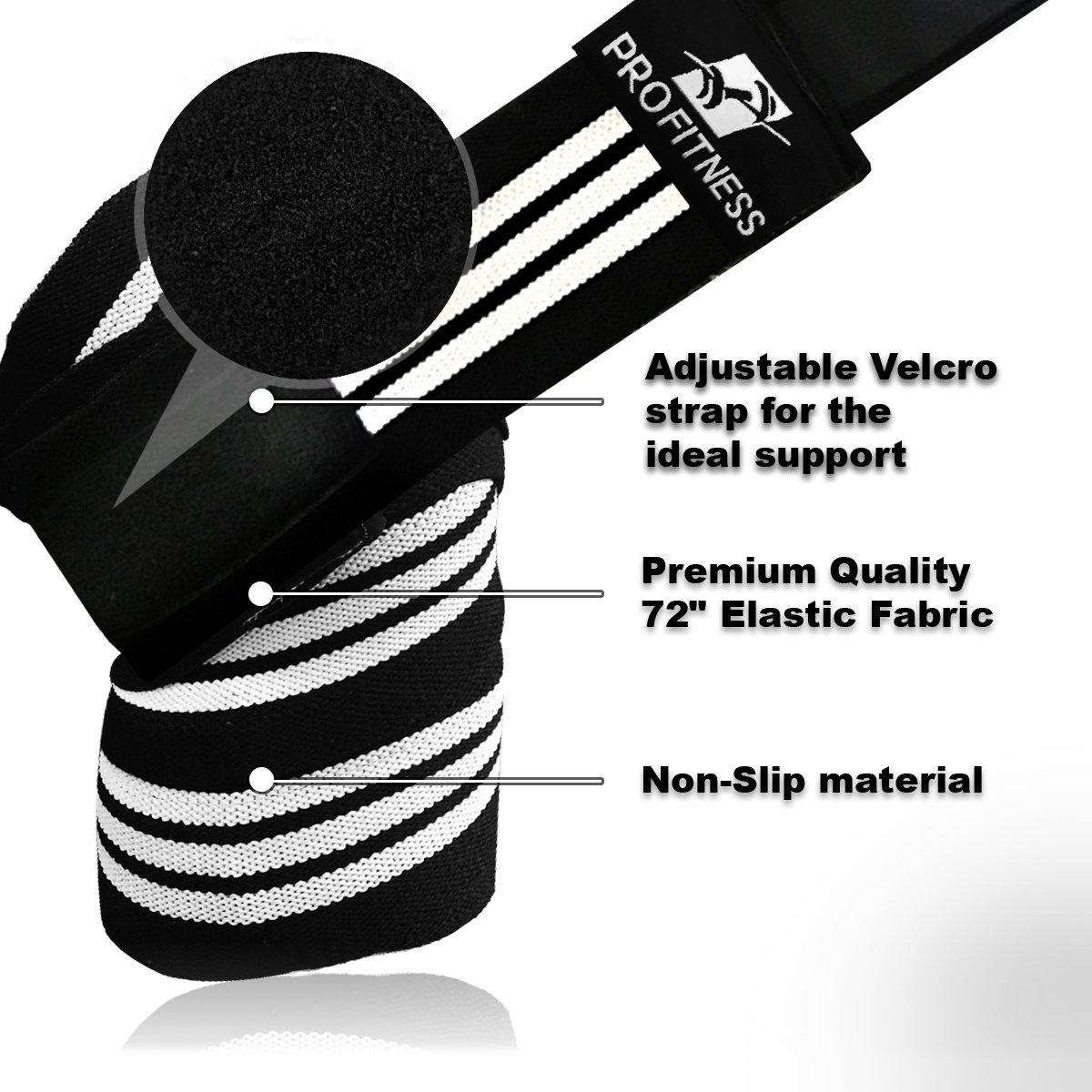 ProFitness Weightlifting Knee Wraps Pair Image 3