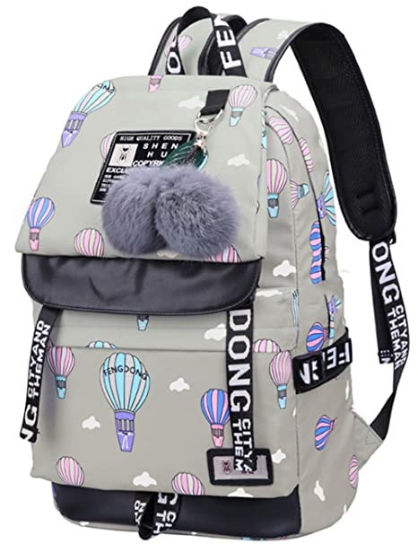 wewo Mochila Escolar Colegio Niña Mochilas Escolares Chica Estudiante Mochilas Mujer Backpack Laptop Ordenador Impermeable Adolescente