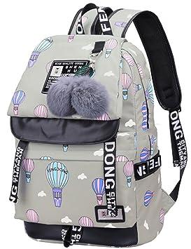 wewo Mochila Escolar Colegio Niña Mochilas Escolares Chica Estudiante Mochilas Mujer Backpack Laptop Ordenador Impermeable Adolescente Niñas Mochila ...