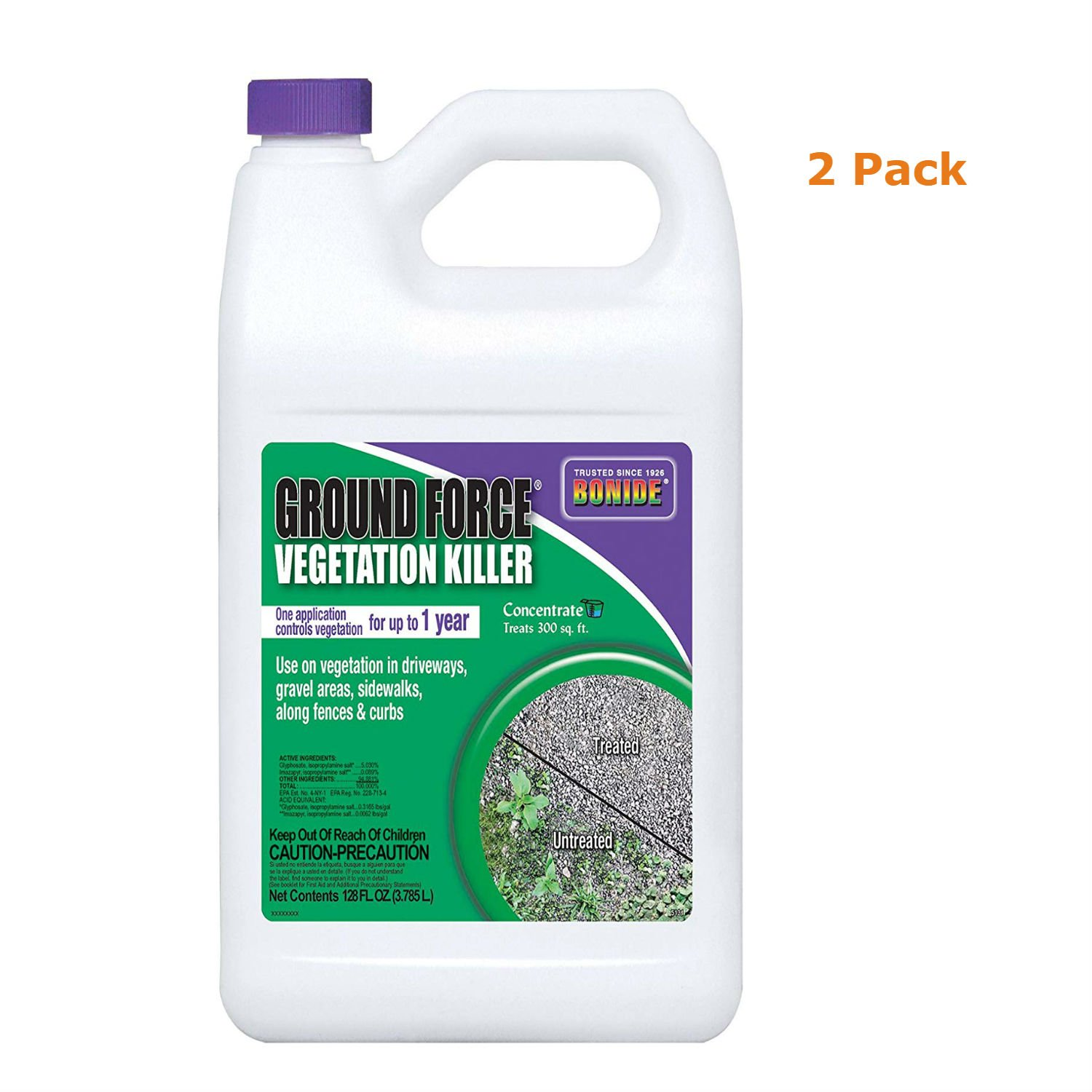 Flagline Bonide Ground Force Non-Selective Vegetation Concentrate Killer, 1 gallon, Pack Of 2