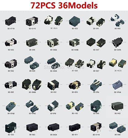 Buy Buyme 72Pcs/36Models Dc Power Connector Female Tablet Dc