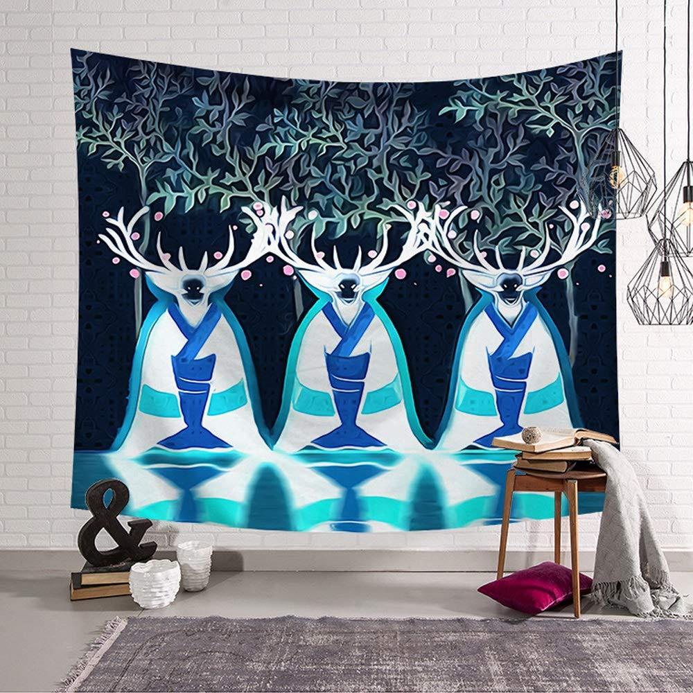 ETH Nordic Hang Cloth Art Wall Digital Printing Tapestry/Wall Blanket/Beach Towel Square Towel Series Durable (Size : 95x73CM)