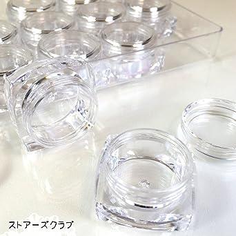 アクリルコンテナ クリアデコケース(12個)ビーズ保存用収納資材 手芸材料 ハンドメイド