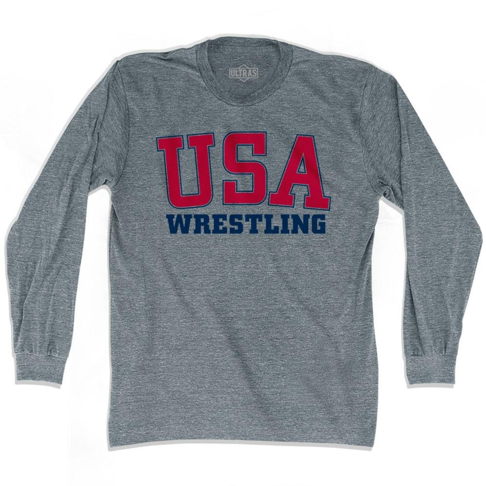 USA Wrestling Ultras Soccer Long Sleeve T-shirt, Athletic Grey, Adult Medium by Ultras