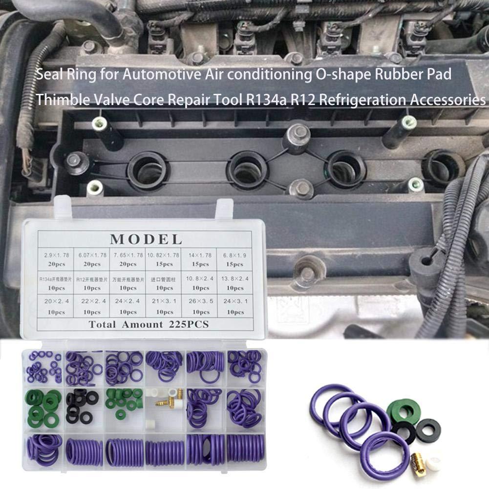 Reparaturwerkzeug-Reparaturbox R134a R12 K/ühlzubeh/ör F/ür Die Meisten Autoklimaanlagen lila Kompressor-O-Ring-Dichtung bulrusely Kfz-Klimaanlagen-O-Ring-Dichtungsring