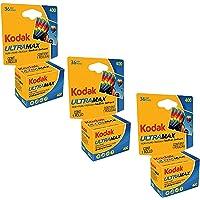 Kodak Ultramax 400 Color Print Film 36 Exp. 35mm DX 400 135-36 (108 Pics) (Pack of 3), Basic photo