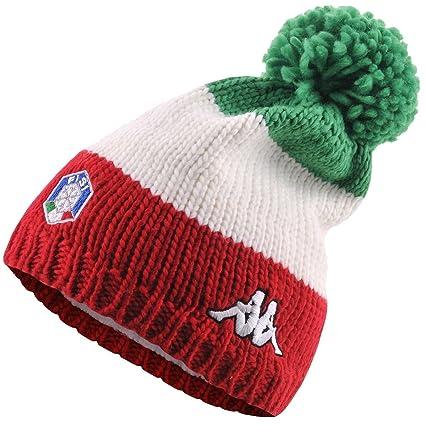 2484351d Italia Ski Polar Hat, Flag Color - Kappa 6cento Flock FISI Italian SKI  National Team