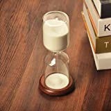 XDOBO New Design Retro Hand-blown Sand Timer in Wood Stand, Hourglass Home Décor, Valentine's Gift - Measures 30 Minutes/ Half Hour