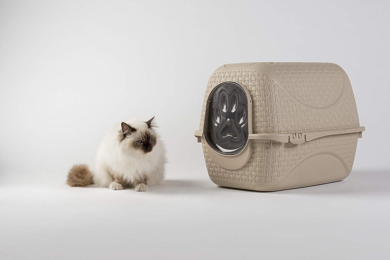Bama Arenero para gatos 41, 8 x 50, 5 x 39, 6h Toilette Audífonos con pala Color Madera: Amazon.es: Jardín