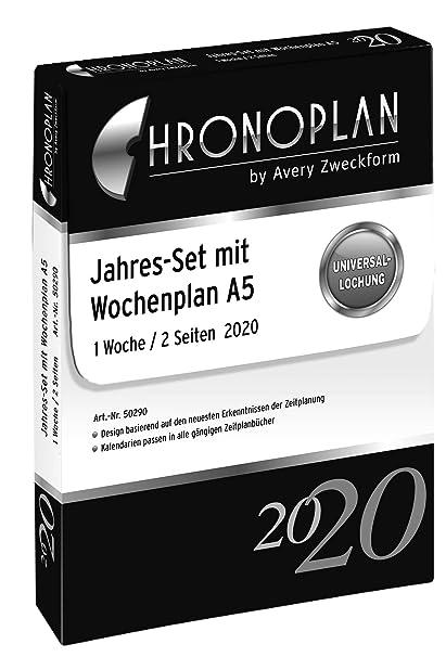 Agenda 2020 anno A5 bianco con calendario Chronoplan 50200 1 giorno//2 pagine