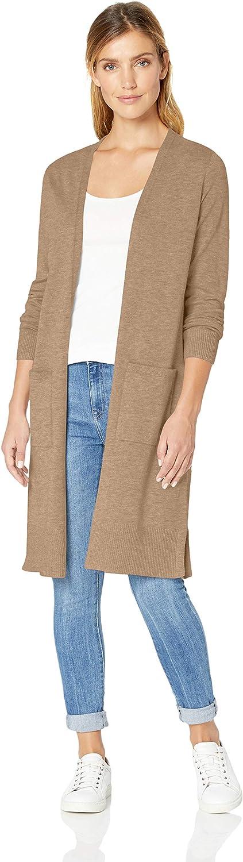 Essentials Womens Lightweight Longer Length Cardigan