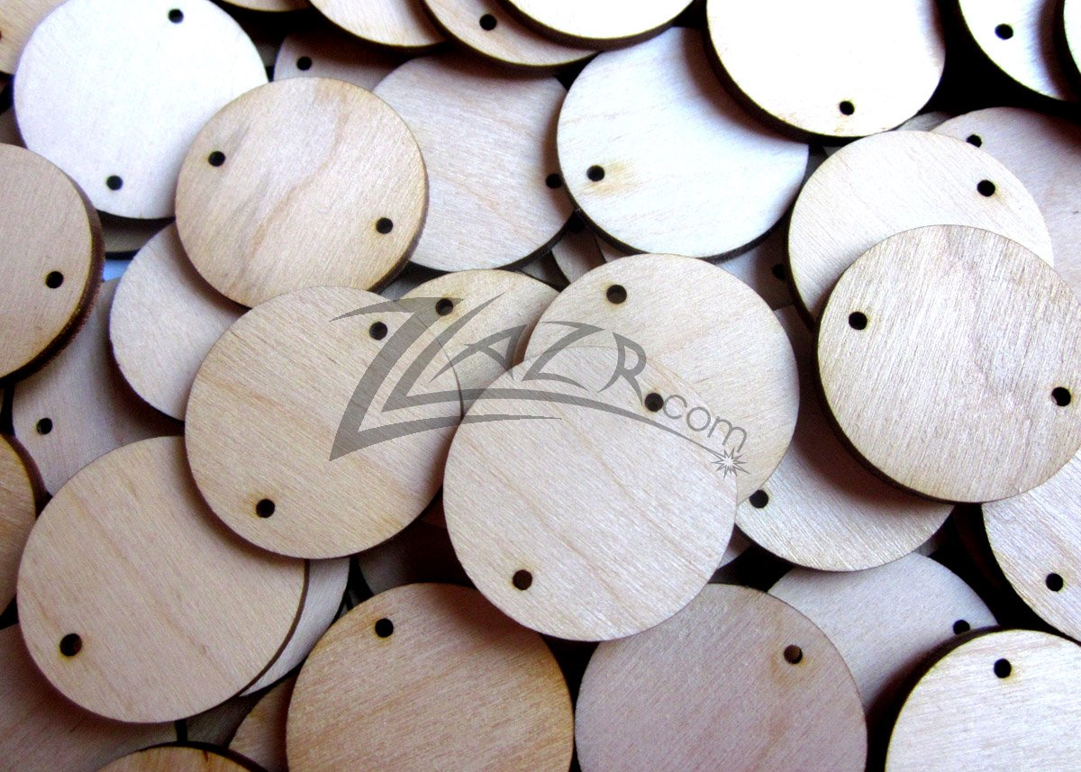 100 1 X 18 Wood Circles Family Birthday Date Board Craft Disc 2 Hole