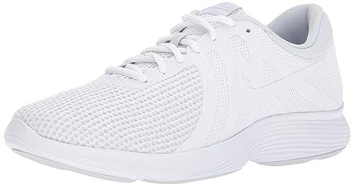 promo code a9a25 c3e9d Nike Men s Revolution 4 White White-Pure Platinum Running Shoe (11.5 D US