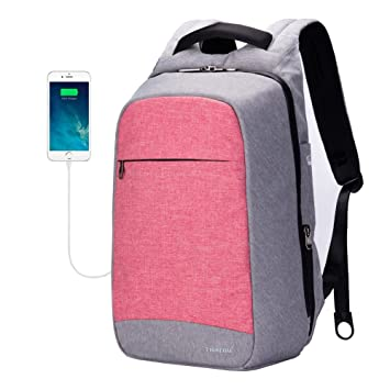 68c2e69bd077 TIGERNU Slim Anti-theft Business Laptop Backpack wiht USB Charging Port Water  Resistant Travel Backpack