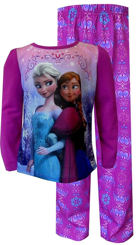 Disney Frozen Princesses Anna and Elsa Pajama for Little Girls 2-6x