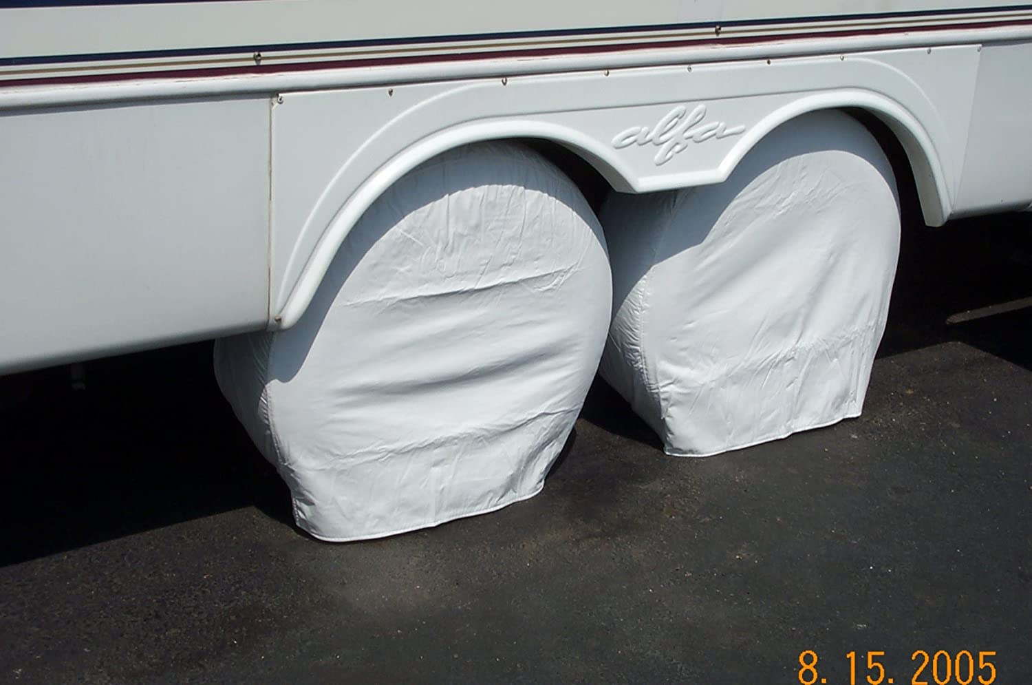 Coach Truck Fits most tires on a 22.5 Rim Bus PAIR Storage Vinyl Tire Covers 40-42 Diameter Tires BLACK for RV