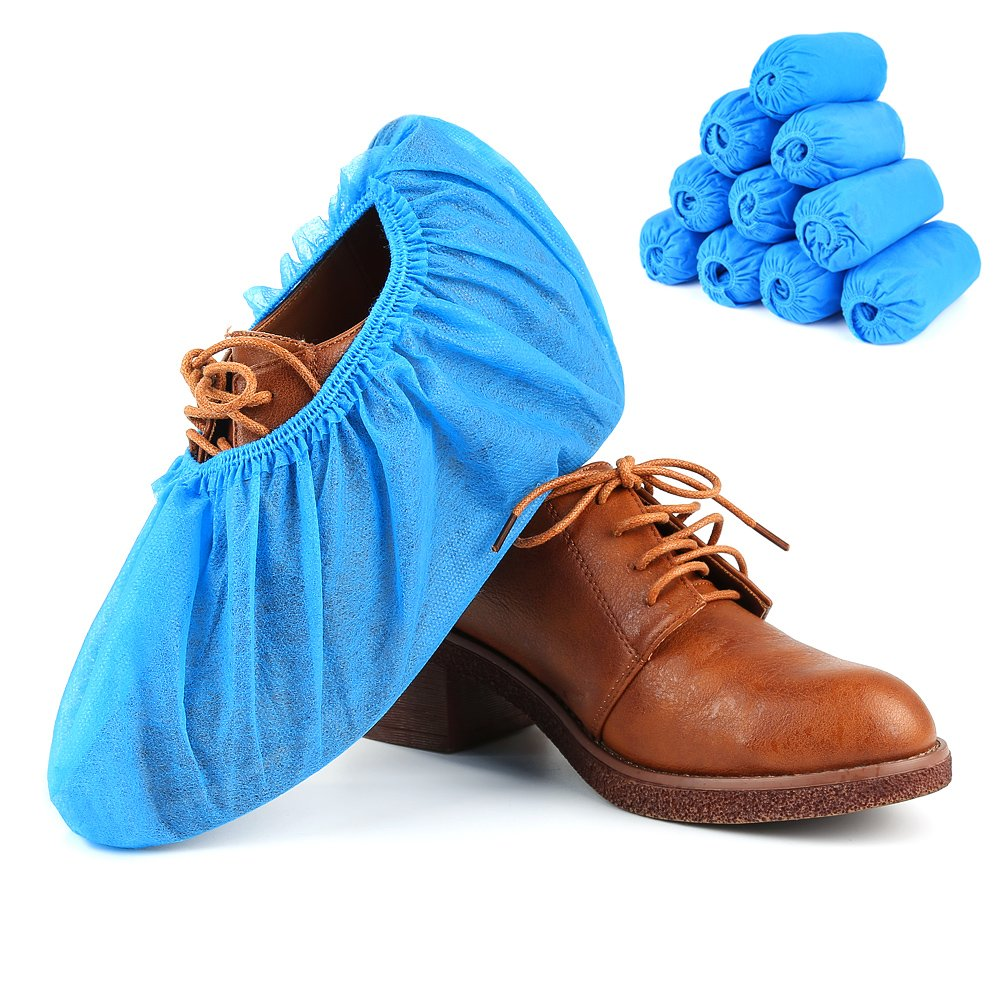 Shoe Covers, Disposable Shoe Covers - Durable, non-toxic, Recyclable Disposable Boot One Size Fits Most, Indoor - Outdoor Boot Covers Perfect for Medical Use, Housekeeping, Real Estate (100 Piece) by aubess (Image #6)