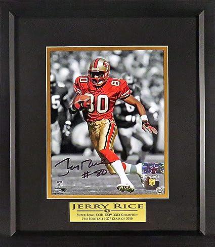"245cc91f846 SF 49ers Jerry Rice Autographed Spotlight 8x10 Photograph (w  ""SB CHAMP    HOF"