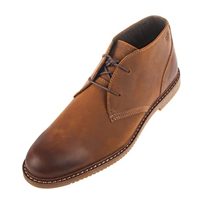 Timberland Men S 2 Eye Lace Up Brown Leather Chukka Boot A13jv