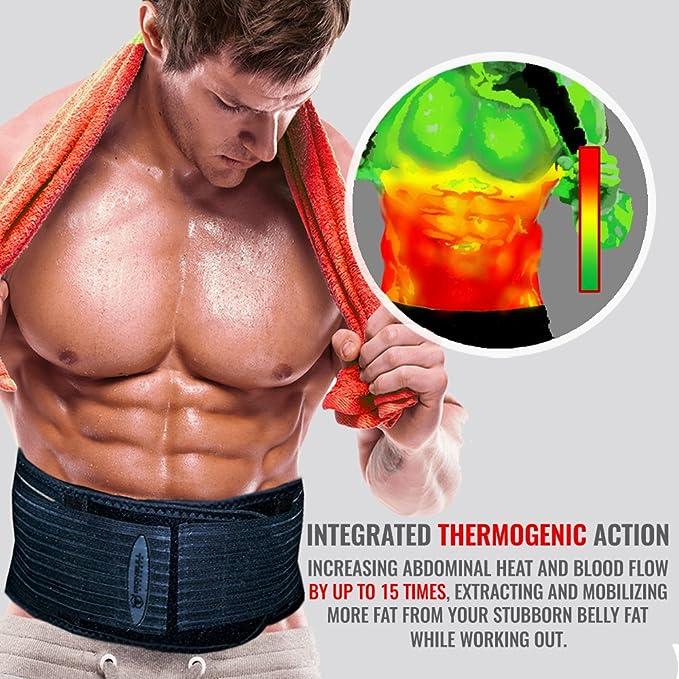 d2e642eaae8a7 Iron Bull Strength The Shred Belt - Waist Trimmer Belt, Belly Fat Burner,  Weight Loss Belt, Spot Reduction Belt, Waist Slimmer, Waist Trainer, Shaper  ...