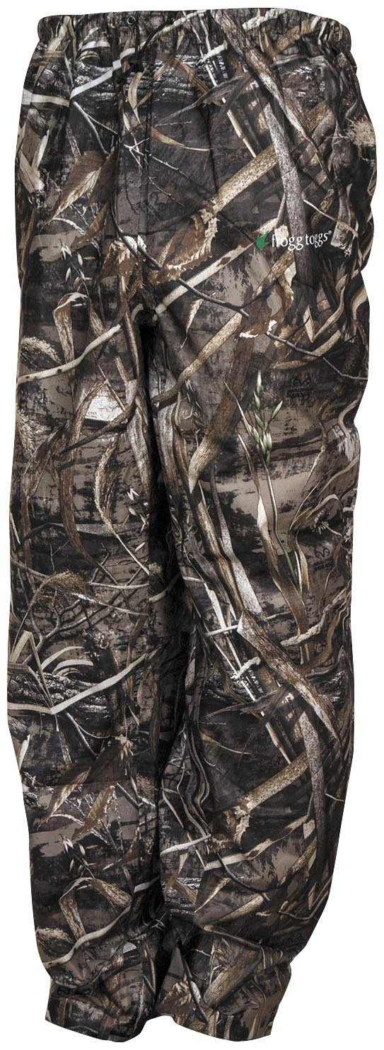 Frogg Toggs Pro Action Camo Rain Pants, Size: Md, Distinct Name: Realtree Max 5, Gender: Mens/Unisex, Primary Color: Brown PA83102-56MD