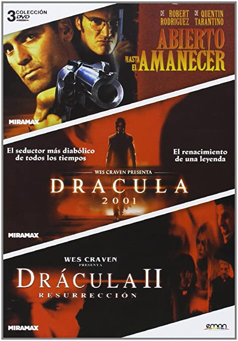 Pack: Abierto Hasta El Amanecer + Drácula 2001 + Drácula: Resurrección DVD: Amazon.es: George Clooney, Jonny Lee Miller, Jennifer Kroll, Robert Rodriguez, Patrick Lussier, George Clooney, Jonny Lee Miller: Cine y Series TV