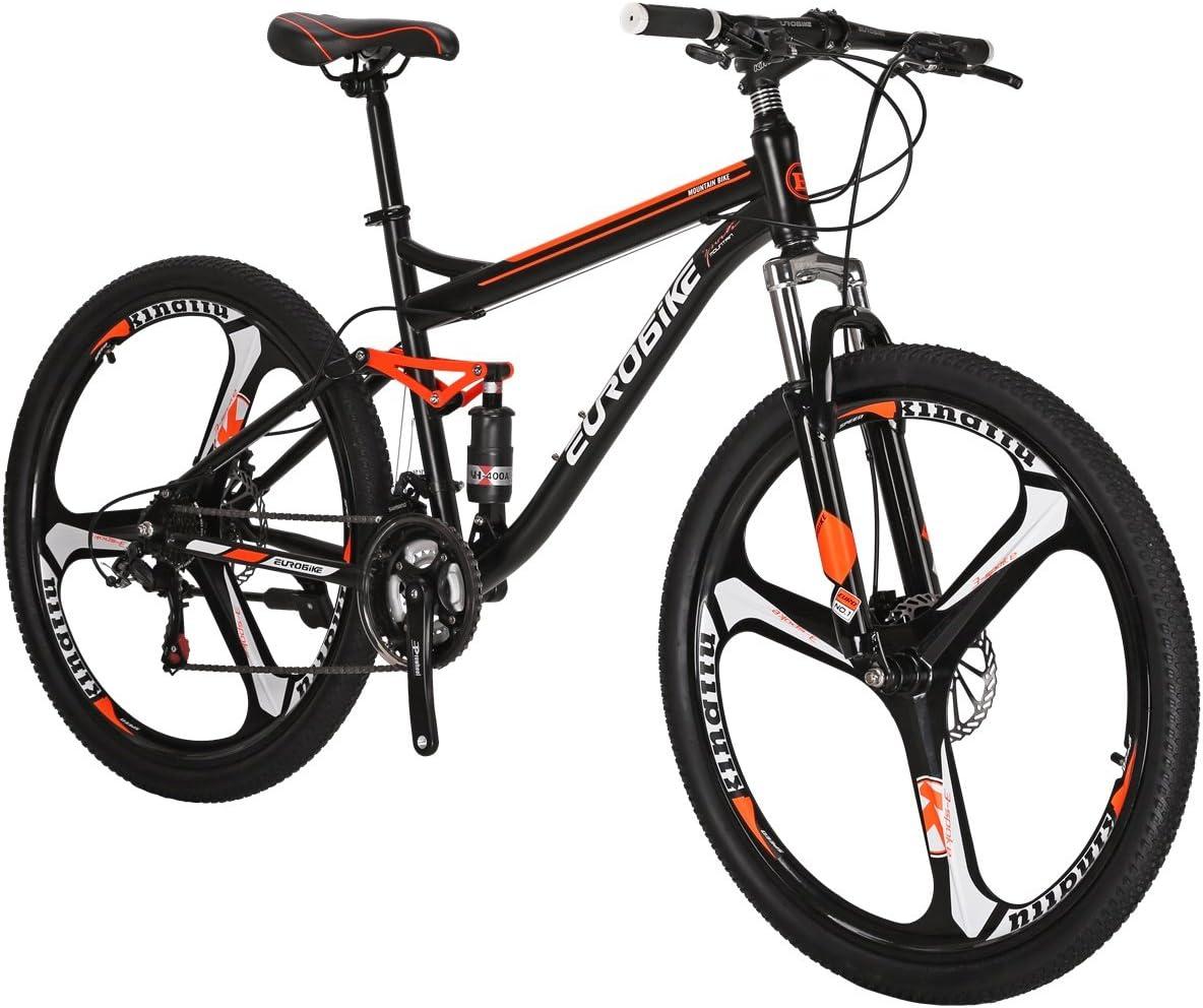 LZBIKE BICYCE E7 27.5 Mountain Bike Shimano 21 Speed Shift Left 3 Right 7 Frame Shock Absorption 3 Spoke Wheel Mountain Bicycle