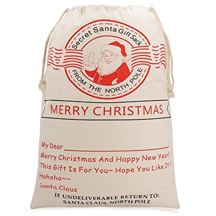 747c397b2dc Amazon.com: Lydia's Deal Christmas Santa Sack Reindeer Delivery Present Bags  from North Pole Bags for Kids Large Christmas Decoration Stocking (Pattern  3): ...