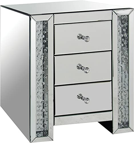 ACME Furniture 82778 Nysa Mirrored End Table