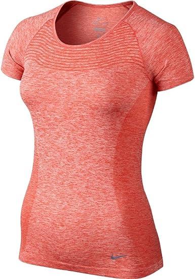 Amazon.com: Nike Dri-FIT Knit Short-Sleeve Women's Running ...