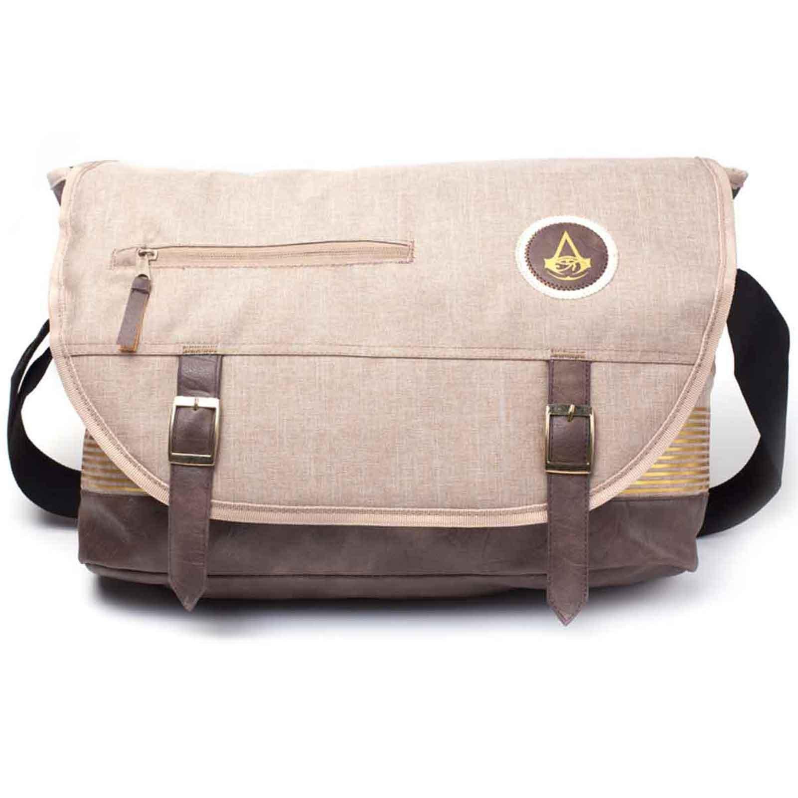 Assassins Creed Messenger Bag Origins Crest Logo Official Ps4 Xbox Brown