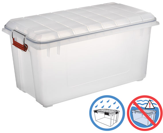 Clear Weathertight Trunk | The Container Store