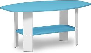 FURINNO Simple Design Coffee Table, Light Blue