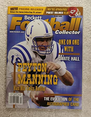 Peyton Manning - Indianapolis Colts - Beckett Football Card Monthly -  165  - December 2003 c59205913