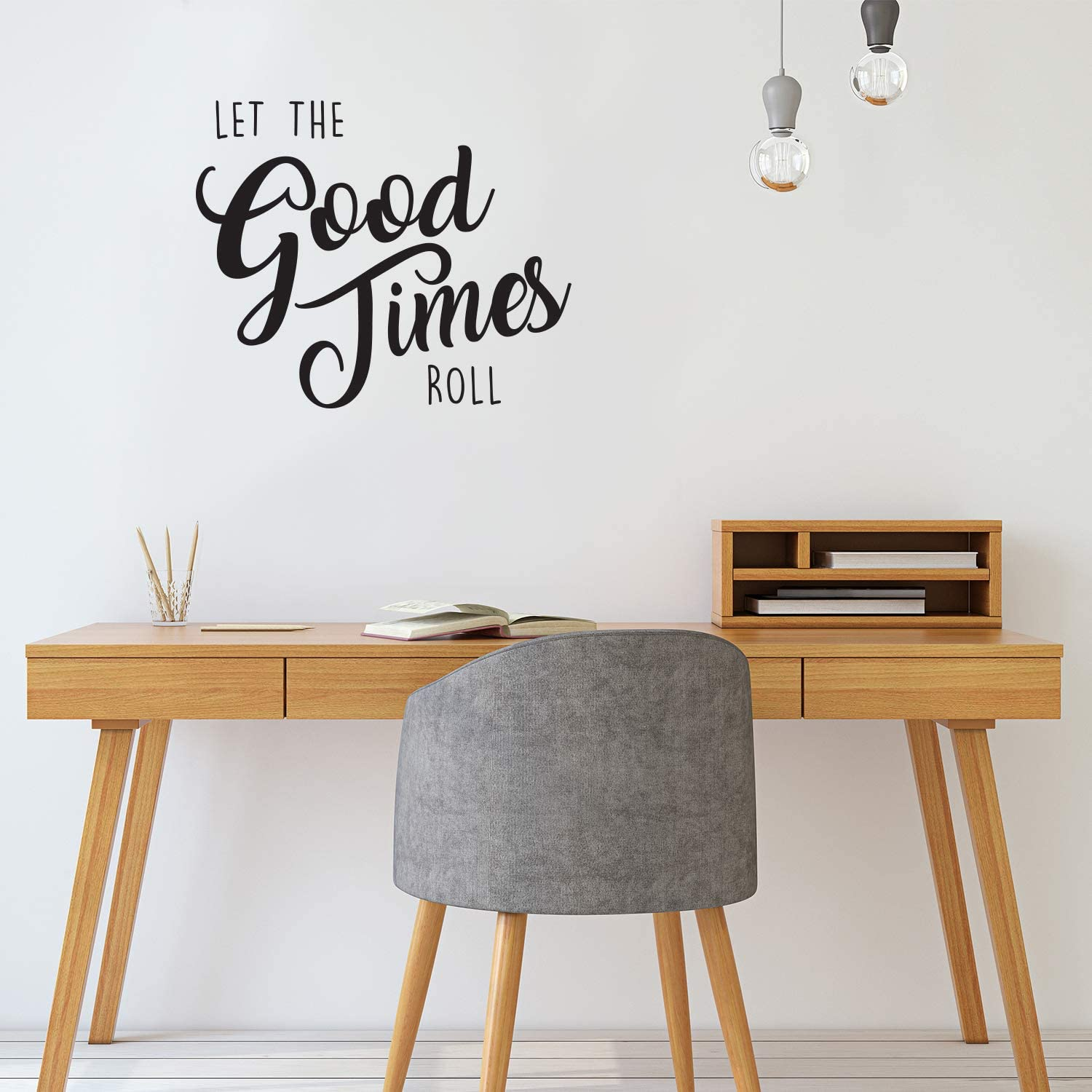 """Inspirational Life Quotes Wall Art Vinyl Decal - Let The Good Times Roll - 22"""" X 26"""" Decoration Vinyl Sticker - Motivational Wall Art Decal - Positive Quote Trendy Wall Art Living Room Decor"""