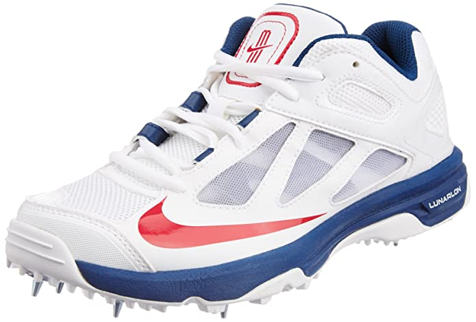 separation shoes f407a 8bb3b ... 2 White Cricket Shoes Online India, Best Price, Reviews Nike Men s Lunar  Dominate Cricket Spikes Colour WHITE RED GREY NIKE Men s Lunar Dominate  White, ...