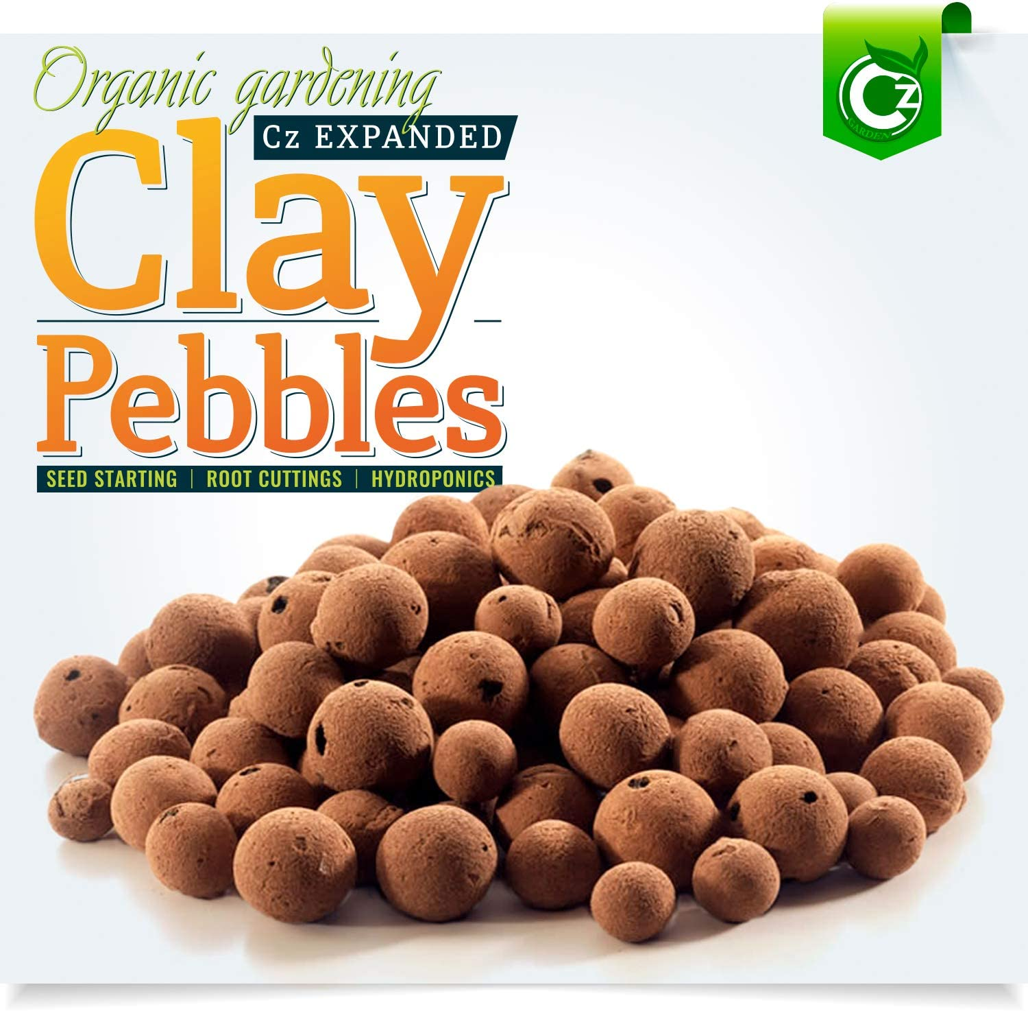 Cz Garden Supply Organic Expanded Clay Pebbles Grow Media For Orchids Hydroponics Aquaponics Amazon Ca Patio Lawn Garden