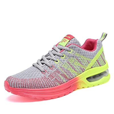 241 Fashion Women's Outdoor Athletic Running Sneakers Air Cushion Gym Casual Jogging Walking Shoes US6.5-9 (6.5, Light grey)