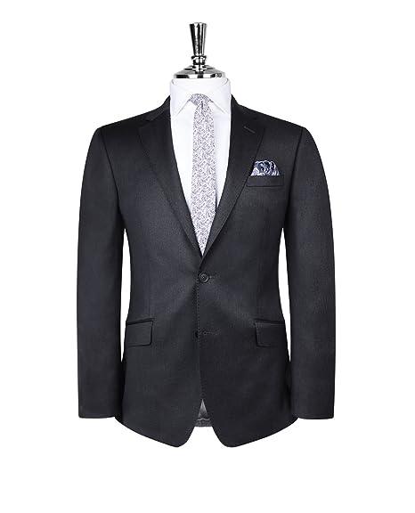 dfd6337518f0 T.M.Lewin Men's Suit Jacket - Blazer Slim Fit Acton Charcoal Twill:  Amazon.co.uk: Clothing
