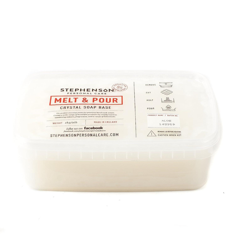 Derretir y verter Base de jabón–Aloe Vera–1kg Stephenson SOAP1KALOE